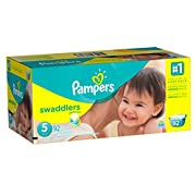 Pampers Swaddlers Disposable Diapers Size 5, 92 Count, GIANT