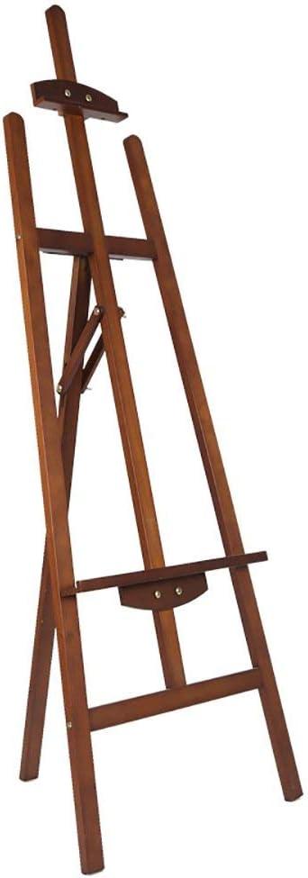 YXDS木製アートイーゼル、ペイントツールディスプレイスタンドポータブルアートクルミ色
