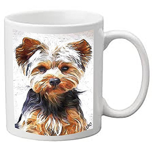 Yorkshire Terrier 'Lupis' 11 Ounce Ceramic Coffee/Latte Mug by DoggyLips