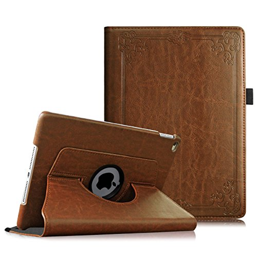 Fintie iPad Air 2 Case (2014 Release) - 360 Degree Rotating Stand Protective Case Smart Cover with Auto Sleep/Wake Feature for Apple iPad Air 2, Vintage Antique Bronze