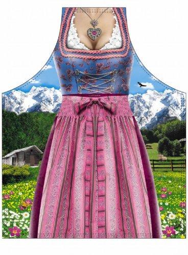 German Oktoberfest Apron - Pink Female Dirndl