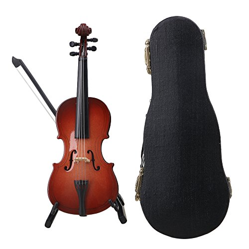 lovermusic Lovermusic Resin Mini Cello with Stand Musical Instrument Ornaments Decoration