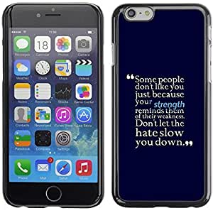Graphic4You Some People Don't Like You Message Quote Hard Case Cover for Apple iPhone