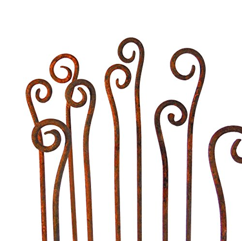 ... Fiddle Heads Scroll Garden Stakes  Sold Individually  Sculptures Home  Décor Handmade  Metal Garden