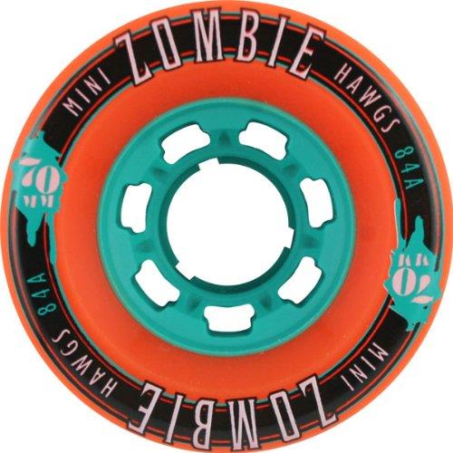 ハード甘美な関係ないHawgs Wheels Mini Zombie Orange Skateboard Wheels - 70mm 84a (Set of 4) by Hawgs Wheels