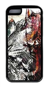 iPhone 5c case, Cute Beasts Art iPhone 5c Cover, iPhone 5c Cases, Soft Black iPhone 5c Covers