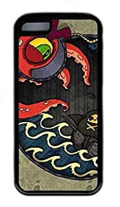 iPhone 5c case, Cute Kraken iPhone 5c Cover, iPhone 5c Cases, Soft Black iPhone 5c Covers