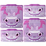 Russbe 18730 Monster Reusable Snack & Sandwich Bags (Set of 4), Purple