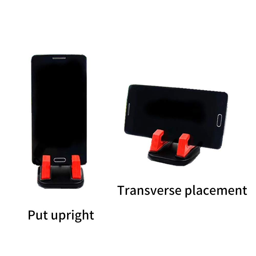 Fixed in Place or rotated 360 and can Lock in Any Direction Help Prop up Various Phones Phone Holder for Desk for Watching Videos See The Navigation Learning Red,2-Pack conferences TV Shows