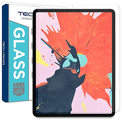 Tech Armor Ballistic Glass Screen Protector Designed for Apple iPad Pro 12.9 inch (2018) - Ultra-Thin 0.25mm for Extreme Touch Sensitivity (Works with Face ID and Apple Pencil) [1-Pack] (Best Web Browser For Ipad Pro)