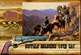Buffalo Soldiers Replica Gun Collage 13 x 19 Over all Size. A full-size replica Navy Colt 1957