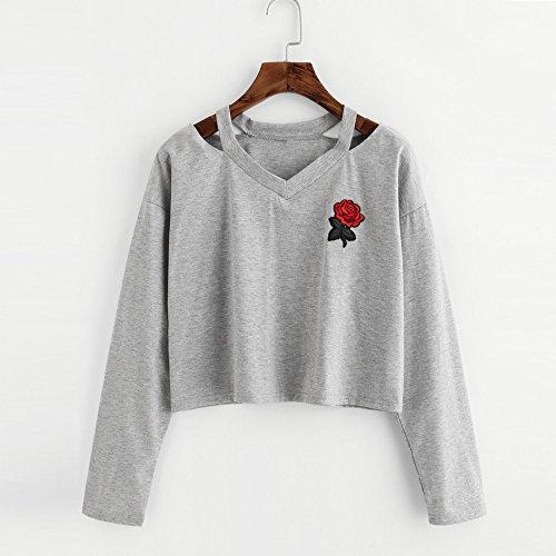 Tops Shirt Femme Chemise Casual Shirt Couleur Taille Weant Blouse Chemisiers Blouses Longue Femme Manche Femme Grande U Col Blouse Solide et Gris Tee Cqn1w57v