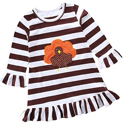 Zhuotop Lo Partito Da Del Bambino Spettacolo Delle Marrone Bambini Dei Vestiti Vestito Ragazze qRPwZanEx