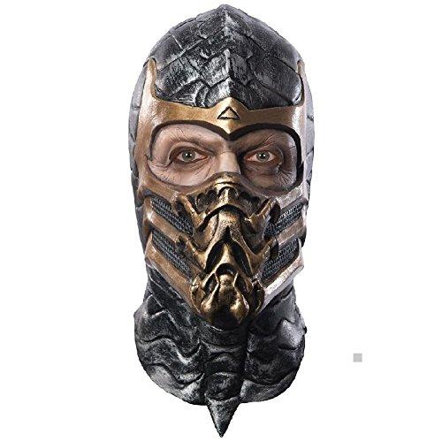 Scorpion Overhead Mask Costume Mask Adult Mortal Kombat (Kids Mortal Kombat Scorpion Costume)