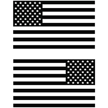 Usa subdued single color american flag 50 stars 2 vinyl die cut decals includes
