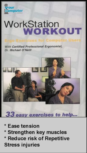 Work Station Workout - Ergo Exercises for Computer Users (VHS VIDEO)