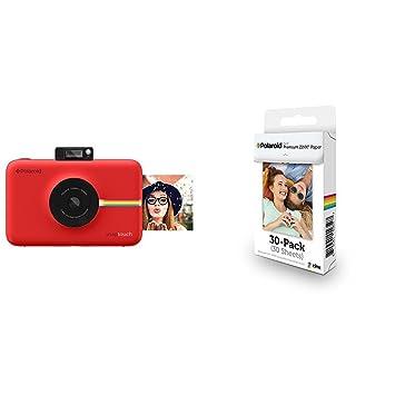7cc06f4227 Polaroid Snap Touch cámara digital con impresión instantánea y pantalla LCD  (rojo) con tecnología Zero Zink + Polaroid Premium Zink Paper: Amazon.es:  ...