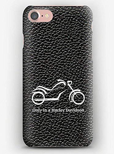 Only in a Harley Davidson, Cover iPhone X,XS,XS Max,XR, 8, 8+, 7, 7+, 6S, 6, 6S+, 6+, 5C, 5, 5S, 5SE, 4S, 4,