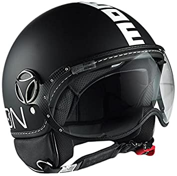 MOMO - Casco de moto negro Negro mate Talla:56-57 cm