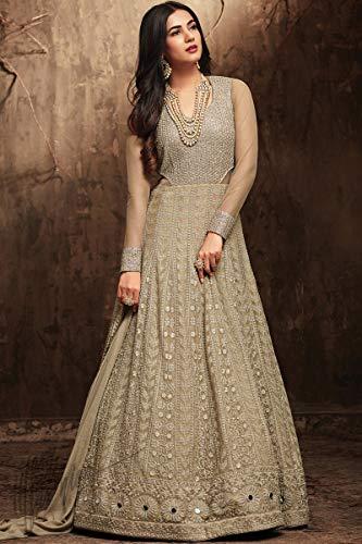 Nouveau Desiner Indien / Net Pakistani Usure Ethnique Georgette Robe Anarkali Maisa 001 Mahendi