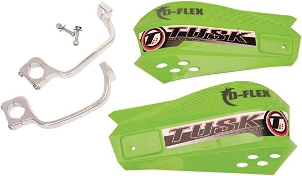 Tusk MX D-Flex MC Handguards with Turn Signals Black