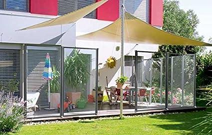 Windfix Windschutz Glasabtrennung Windabweiser Terrasse Glas Gartenzaun Garten Windfang Sichtschutz Zaun Begrenzung 205 80 Cm