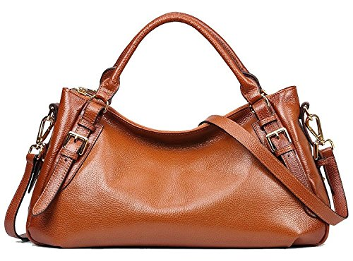 AINIMOER-Womens-Genuine-Leather-Top-handle-Tote-Shoulder-Bag-Messenger-Purse-Ladies-Cross-Body-Handbags