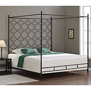 Metal canopy bed frame king sized adult kids - Canopy bed ideas for adults ...