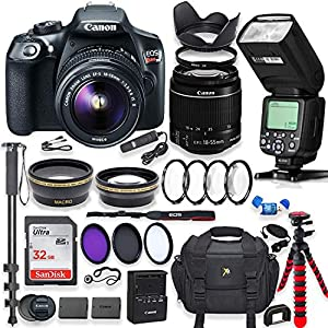 Best Epic Trends 51EXXSq81bL._SS300_ Canon EOS Rebel T6 DSLR Camera with 18-55mm is Lens Bundle + Speedlight TTL Flash + 32GB Memory + Filters + Monopod…