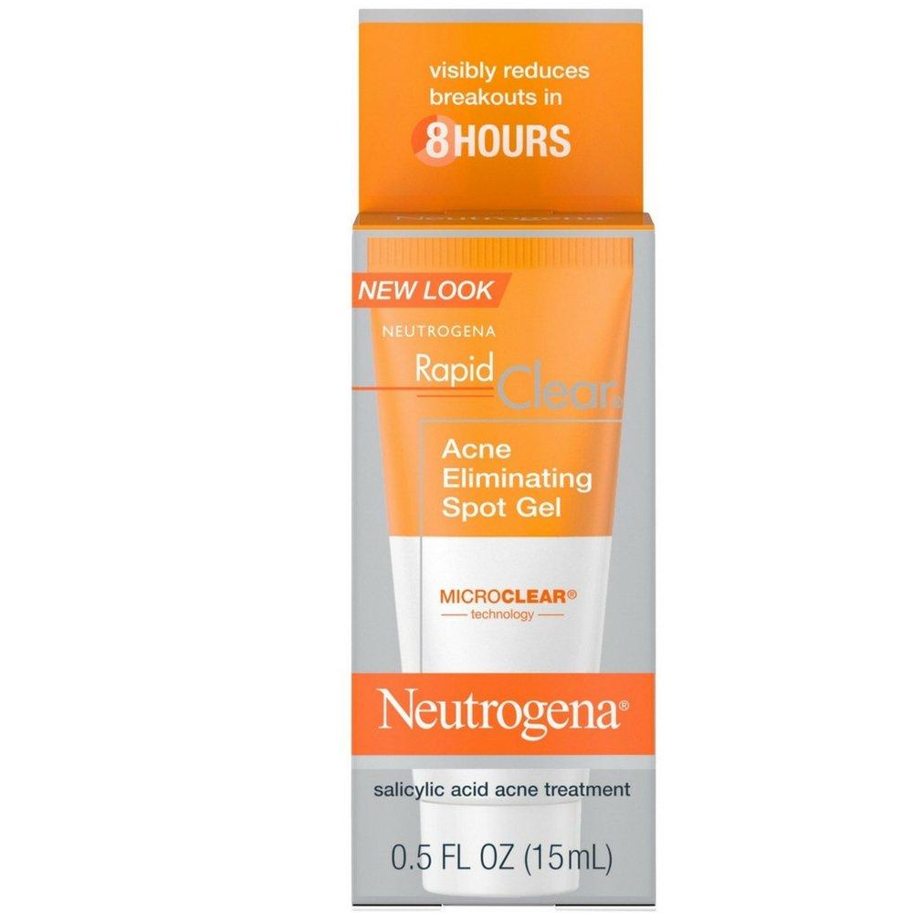 Neutrogena Rapid Clear Acne Eliminating Spot Gel 0.50 oz (Pack of 2) by Neutrogena