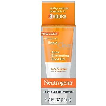 Neutrogena Rapid Clear Acne Eliminating Spot Gel 0.50 oz (Pack of 6) HydraSil Essential Organic Serum – Pure, Oil Free - from Essona Organics - 100% Pure Hyaluronic Acid - 1 oz. Pump Try it Now!