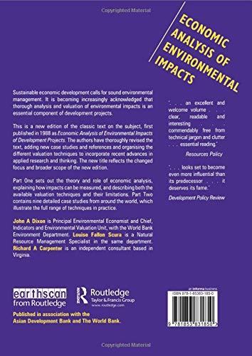 Economic Analysis of Environmental Impacts (Earthscan Original
