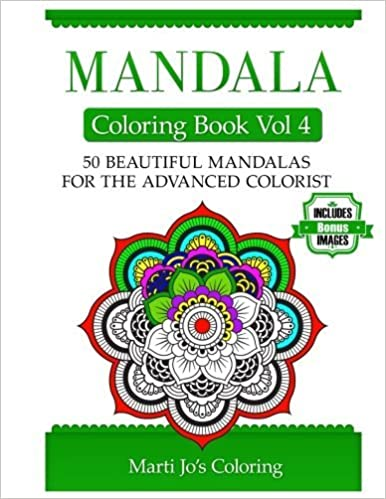 Mandala Coloring Book Vol 4 by Marti Jo's Coloring (2014-02-08)