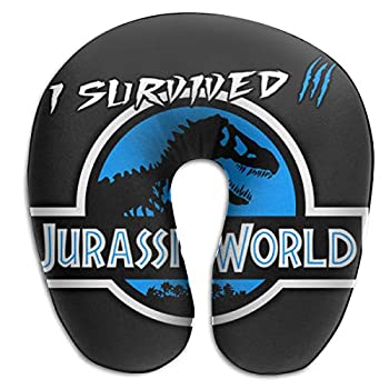 - 51EXXzFogCL - MIAOXIONG I Survived Jurassic World Travel Pillow Memory Car Airplane Office Home CAF¨¦ Bus Printed U-Shape Neck Pillow