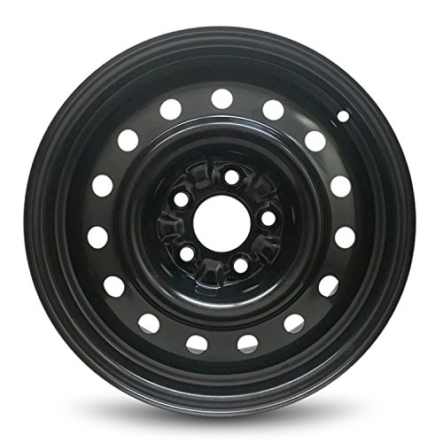 Road Ready Car Wheel For 2002-2006 Nissan Altima 16 Inch 5 Lug Black Steel Rim Fits R16 Tire - Exact OEM Replacement - Full-Size Spare (16 Inch Black Rims For Nissan Altima)