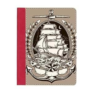 CustomNewest Fashion Anchor Design Red Smart Cases for iPad 2, iPad 3 (New iPad),IPad 4