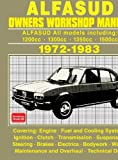 Alfa Romeo Alfasud Owners Workshop Manual 1972-1983
