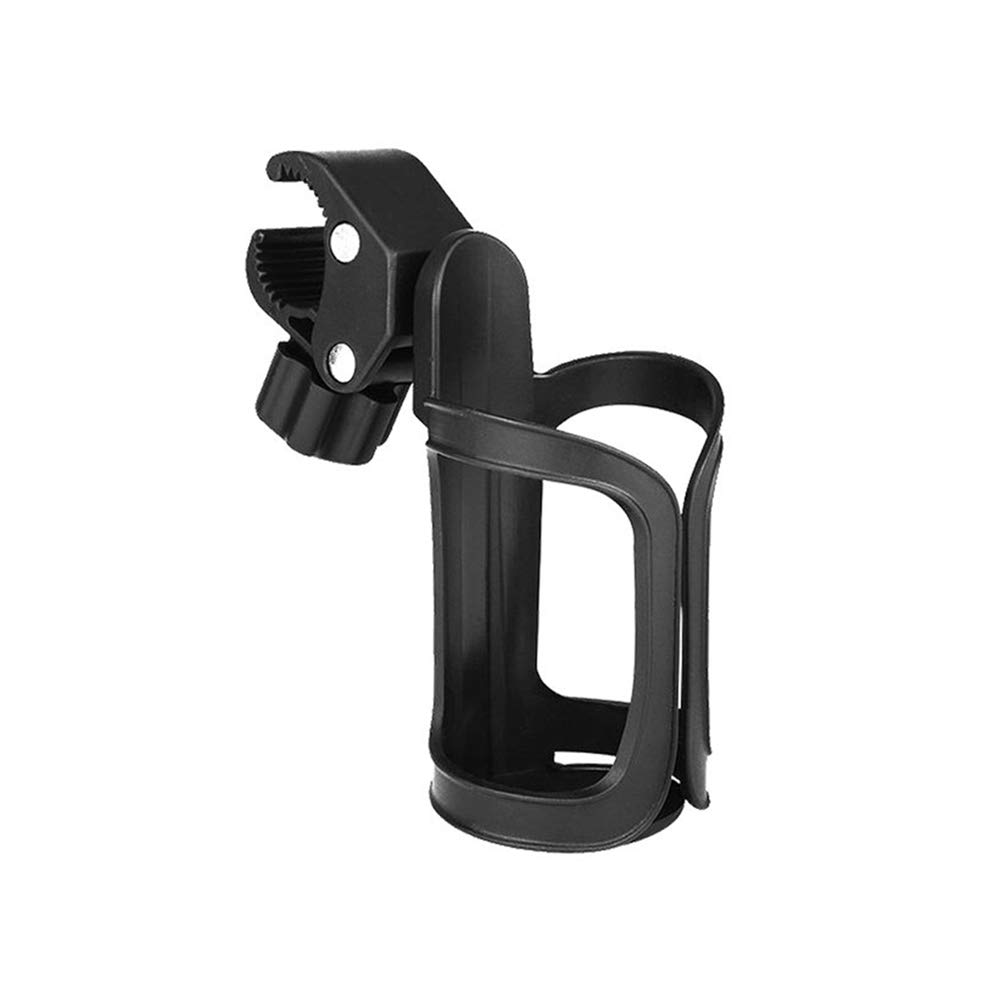 KNDJSPR 3Pcs Bike Cup Holder Stroller Drink Holders Universal 360° Rotation Pushchair Bottle Cage Shelf Parent Console Organizer for Bicycle Wheelchair Motorcycle