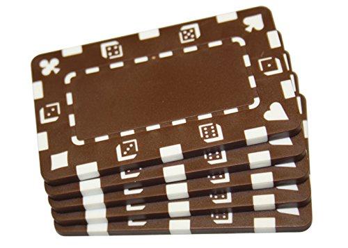 5個ブラウン長方形ポーカーチップPlaques B00TCSZ6CS B00TCSZ6CS, 超爆安 :4613de34 --- itxassou.fr