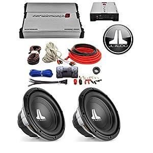 """CERWIN-VEGA MOBILE XED71000.1M Amp (Monoblock, 1,000 Watts W/ Cerwin Vega - CAK4 ANL Fuse Holder 100amp Kit+JL Audio 10"""" Single 4-Ohm W0V3 Series Subwoofer10W0V3"""