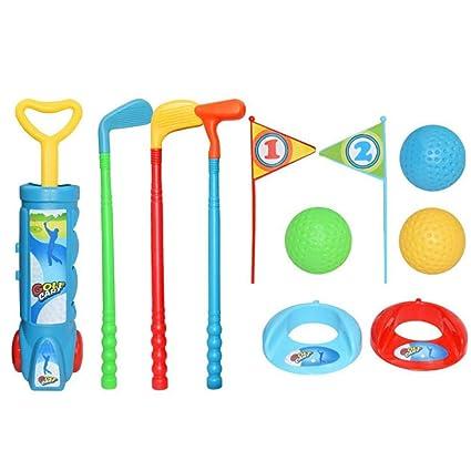 HoneybeeLY - Juego de Golf para niños - Carro de Golf, 3 ...