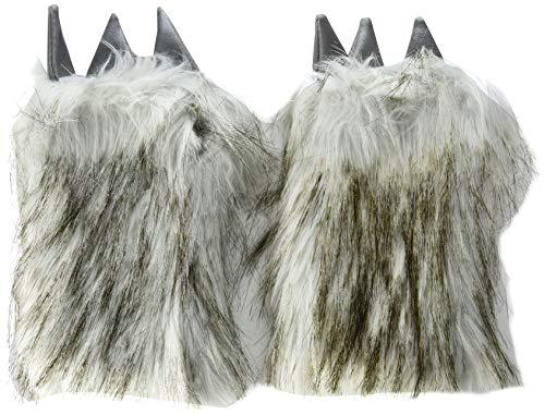 J. Valentine Women's Big Bad Wolf Gloves, Grey/Silver, One Size