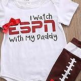 Baby Girls I Watch ESPN with My Daddy Romper