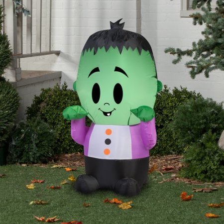 Halloween Decoration Airblown Inflatable 3.5' X 2' Happy Monster