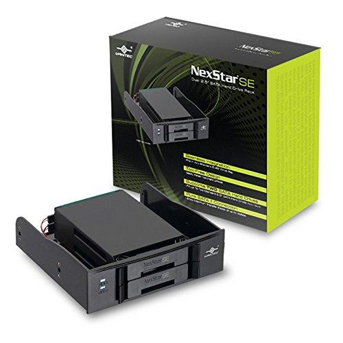Vantec NexStar SE Dual 2.5-Inch SATA Hard Drive Rack MRK-525ST (Black) ()