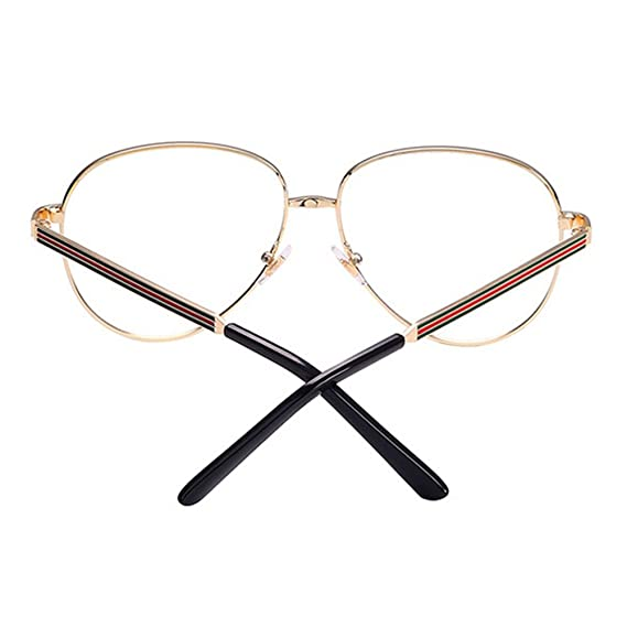 5007096369 Men Women Aviator Glasses - Clear Lens Glasses Frame - Fashion Eyeglasses  Eyewear - hibote  122904  Amazon.co.uk  Clothing