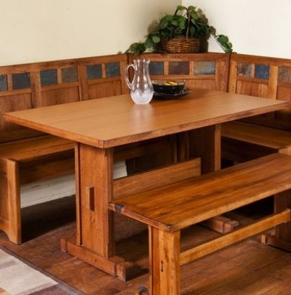 Sunny Designs Sedona Breakfast Nook Set w/ Side Bench 4PC...