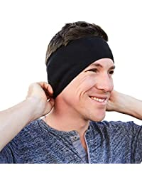 Self Pro Ear Warmers/Muffs Headband for Men & Women & Kids Perfect for Cycling Skiing Workout Yoga Running & Riding Motorcycle in Winter - Stay Warm & Performance Stretch