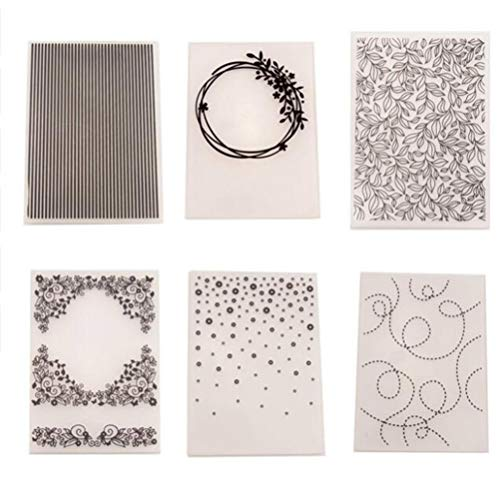 MaGuo Leaves Plastic Embossing Folder Template for Card Making Scrapbooking DIY Crafts