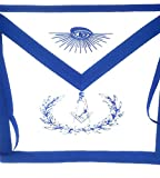 D1600 Apron Masonic Economy Officer Apron Set
